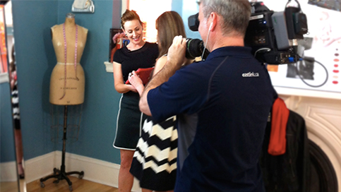 "Buell Designs on television set ""Style Matters"" East Link Television"